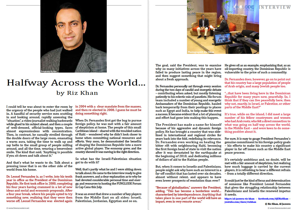 Riz Khan LE Mag July 2011