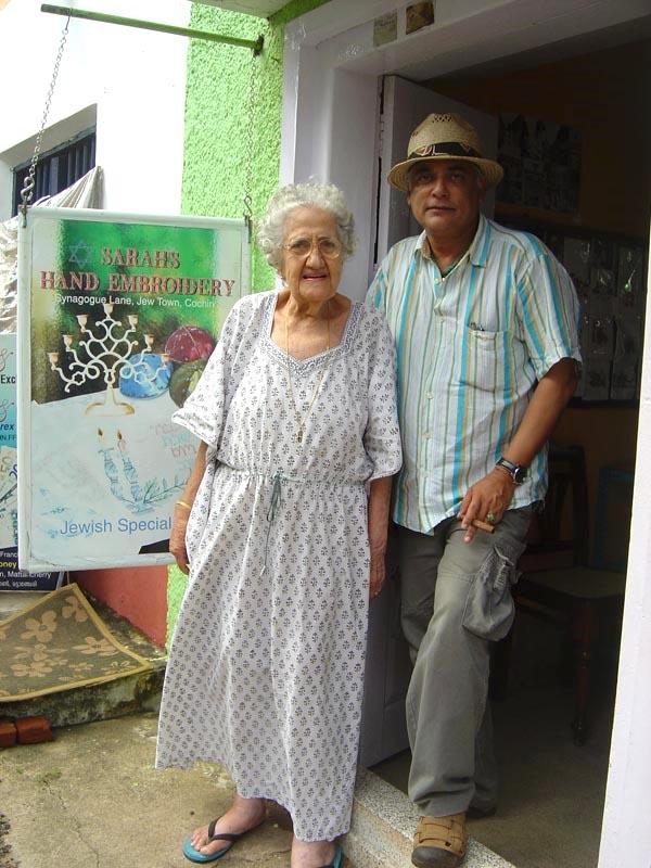 With Sarah Cohen - Jew Town - Kochi