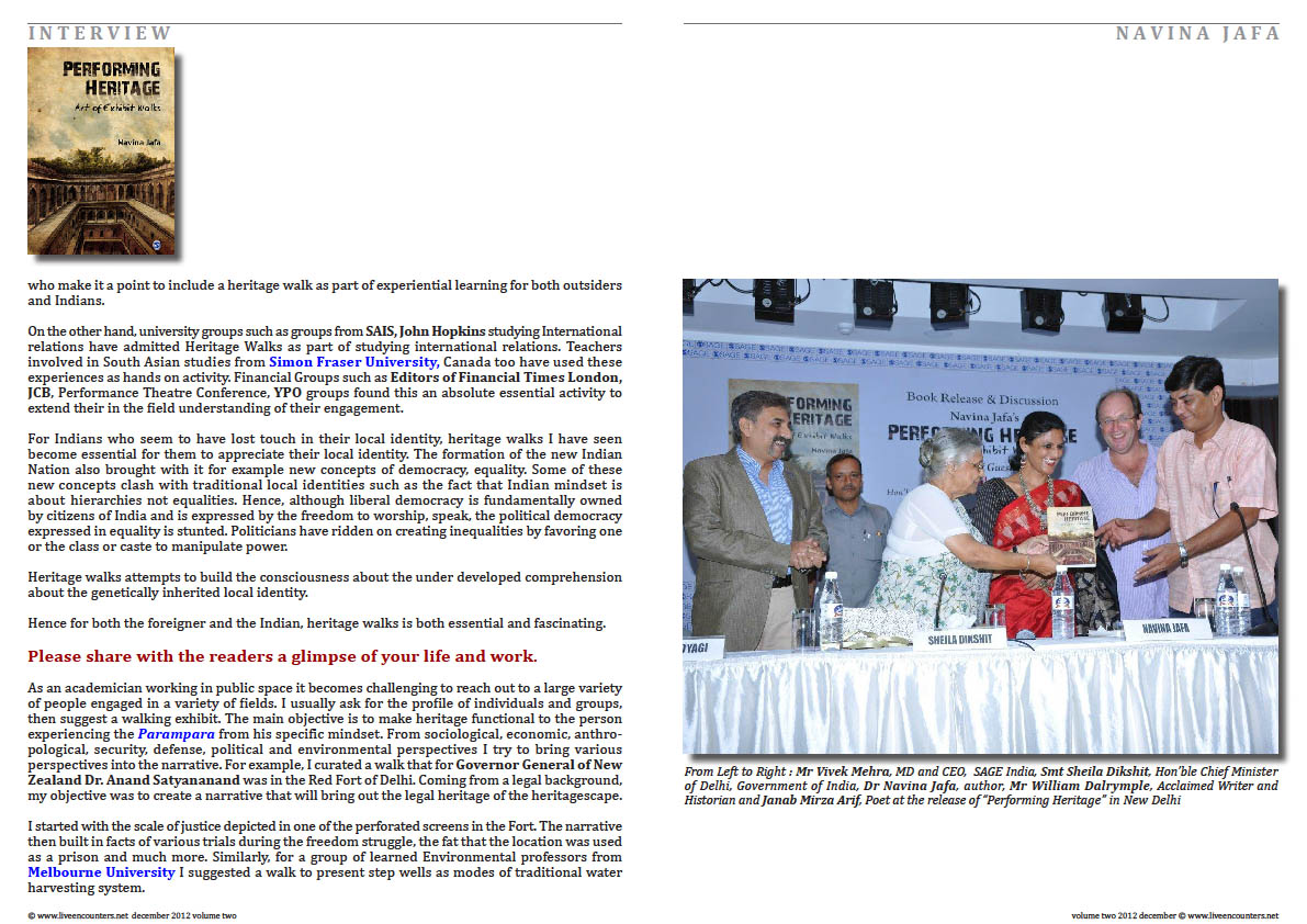 Page Three Navina Jafa Live Encounters Magazine Volume Two December 2012