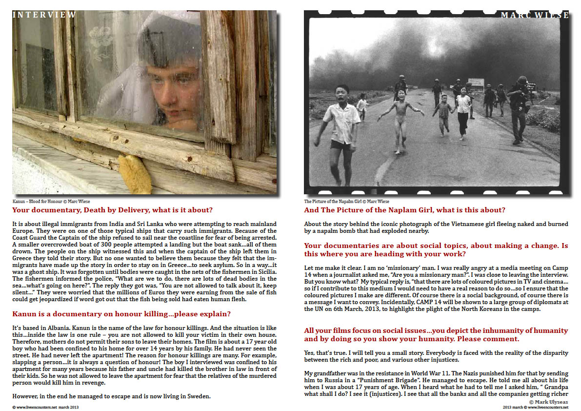 Marc Wiese - Camp 14 Total Control Zone Live Encounters Magazine March 2014 Page four