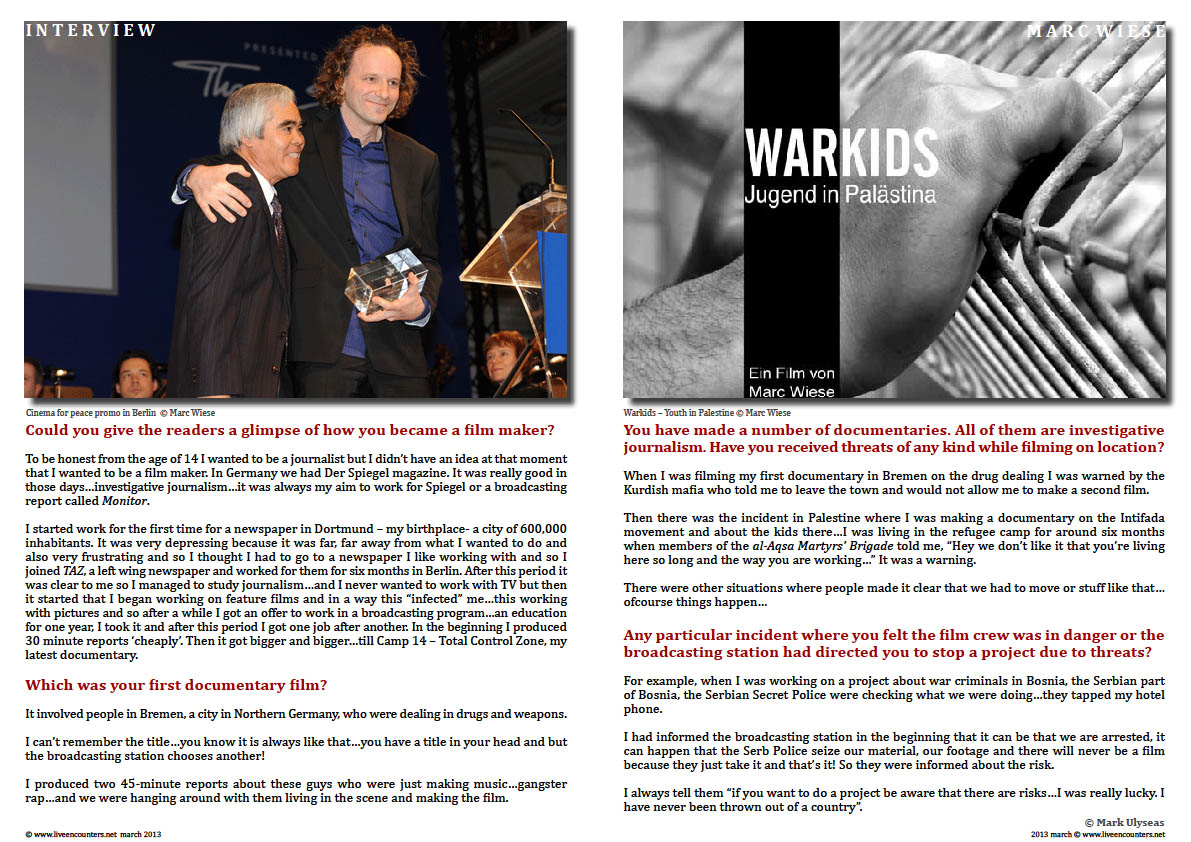 Marc Wiese - Camp 14 Total Control Zone Live Encounters Magazine March 2014  Page three