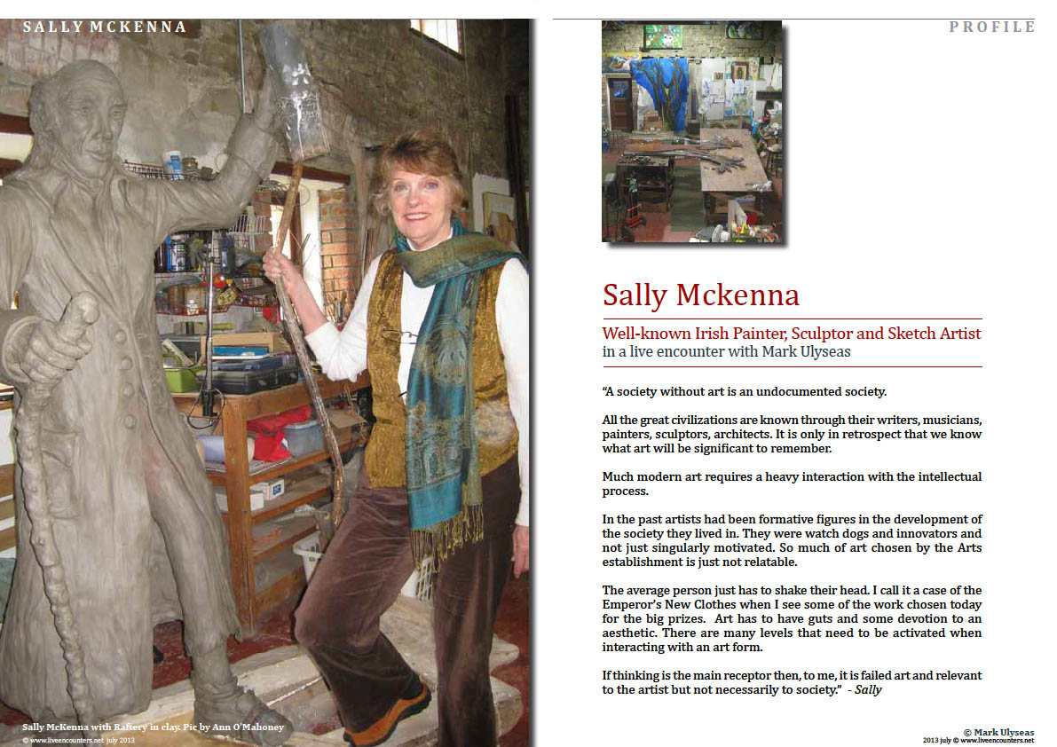 Sally McKenna - Well-known Irish Painter, Sculptor and Sketch Artist Page 01