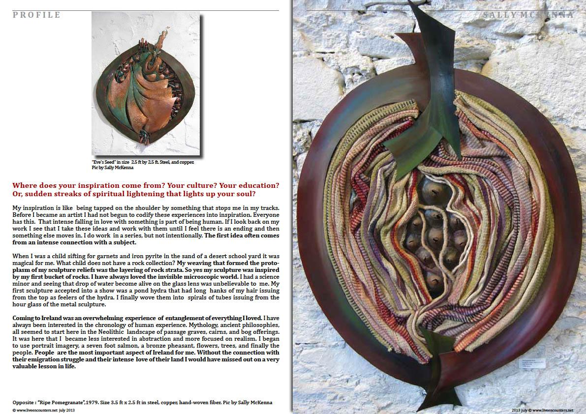 Sally McKenna - Well-known Irish Painter, Sculptor and Sketch Artist Page 03