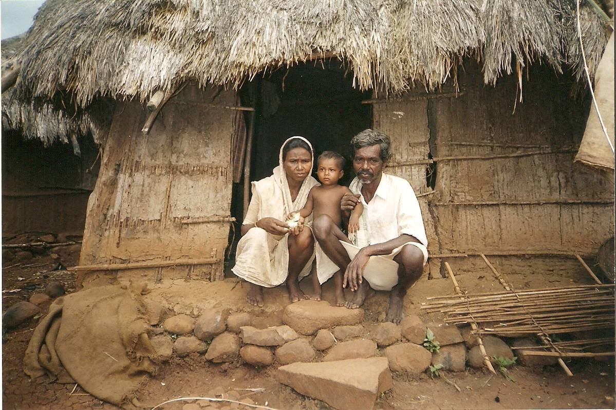 A resettled Katkari family in Thane District