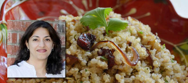 Perinaz Avari - Vegan Food - Quinoa Pulao  with Caramelized Onion and Walnuts - Live Encounters Magazine May 2014