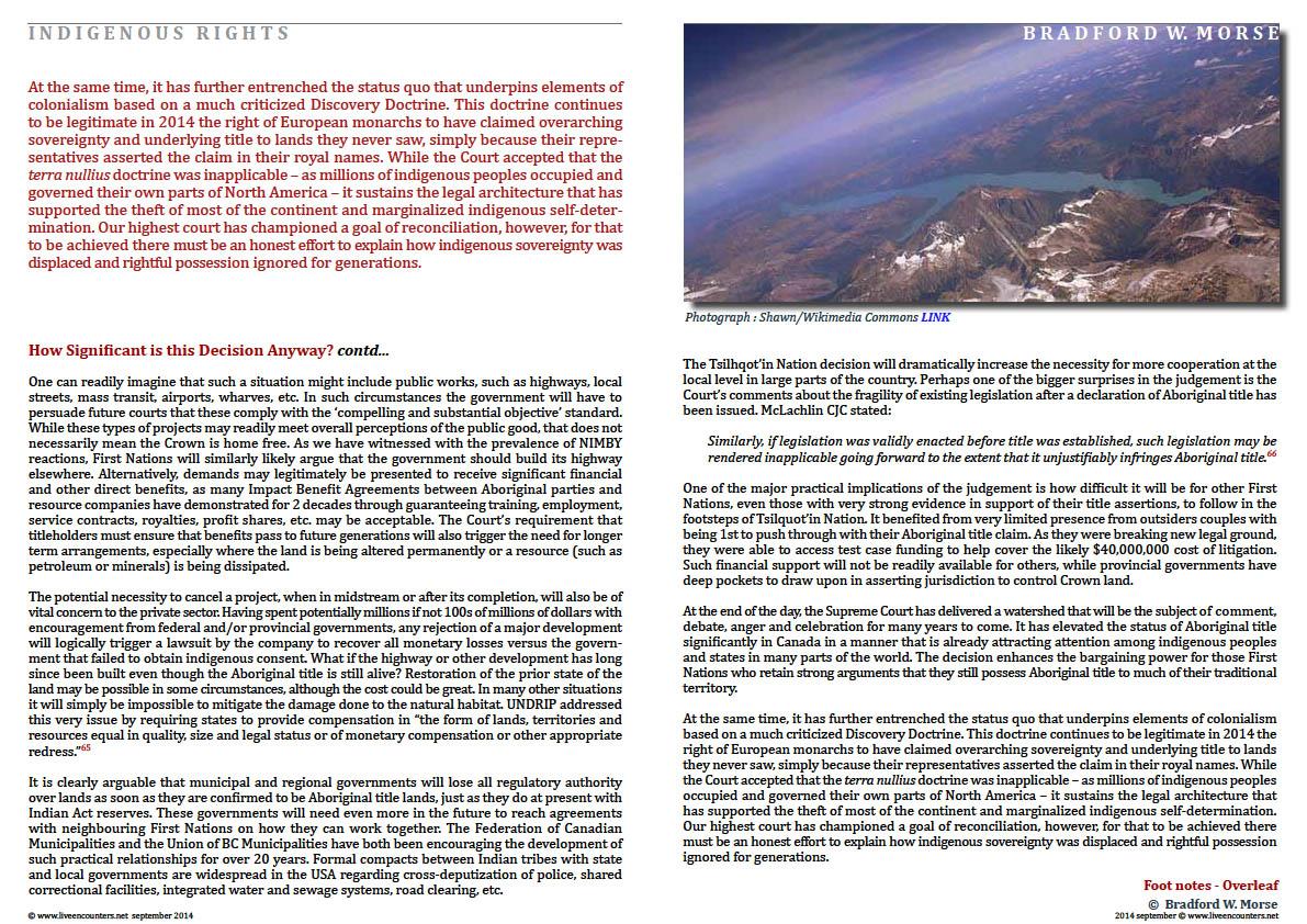 Professor Bradford W Morse - Tsilhqot'in - Page 10