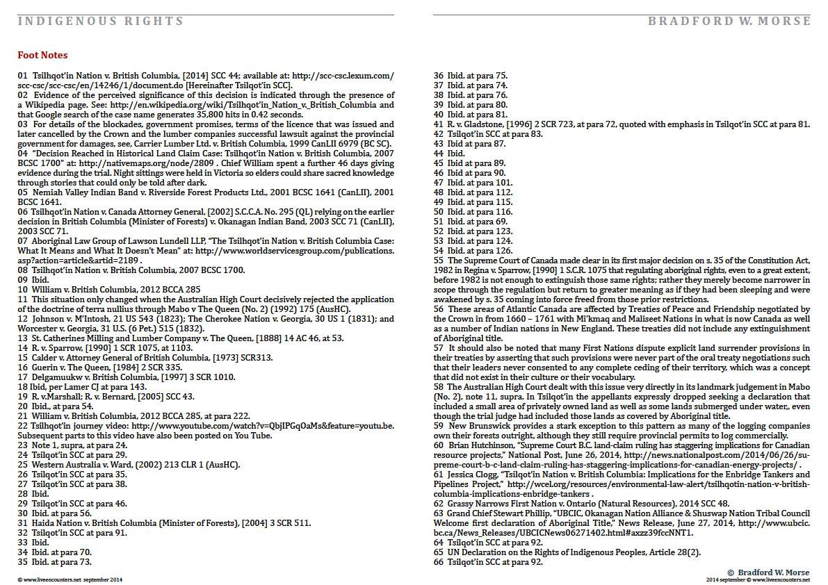 Professor Bradford W Morse - Tsilhqot'in - Page 11