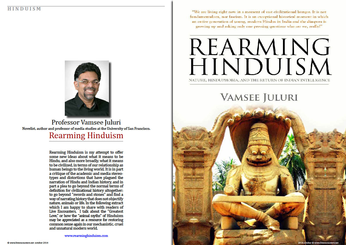 Rearming Hinduism Professor Vamsee Juluri Live Encounters Magazine October 2014