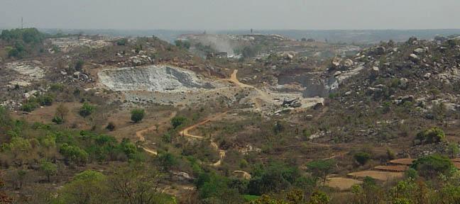 Illegal mining in Shivanahalli-Ragihalli area of Anekal Taluk