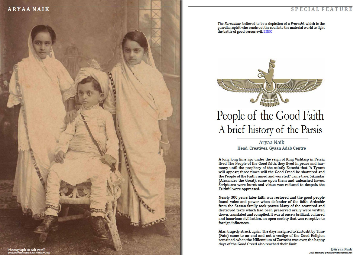 Page 1 People of the Good Faith - Brief history of the Parsis - Aryaa Naik