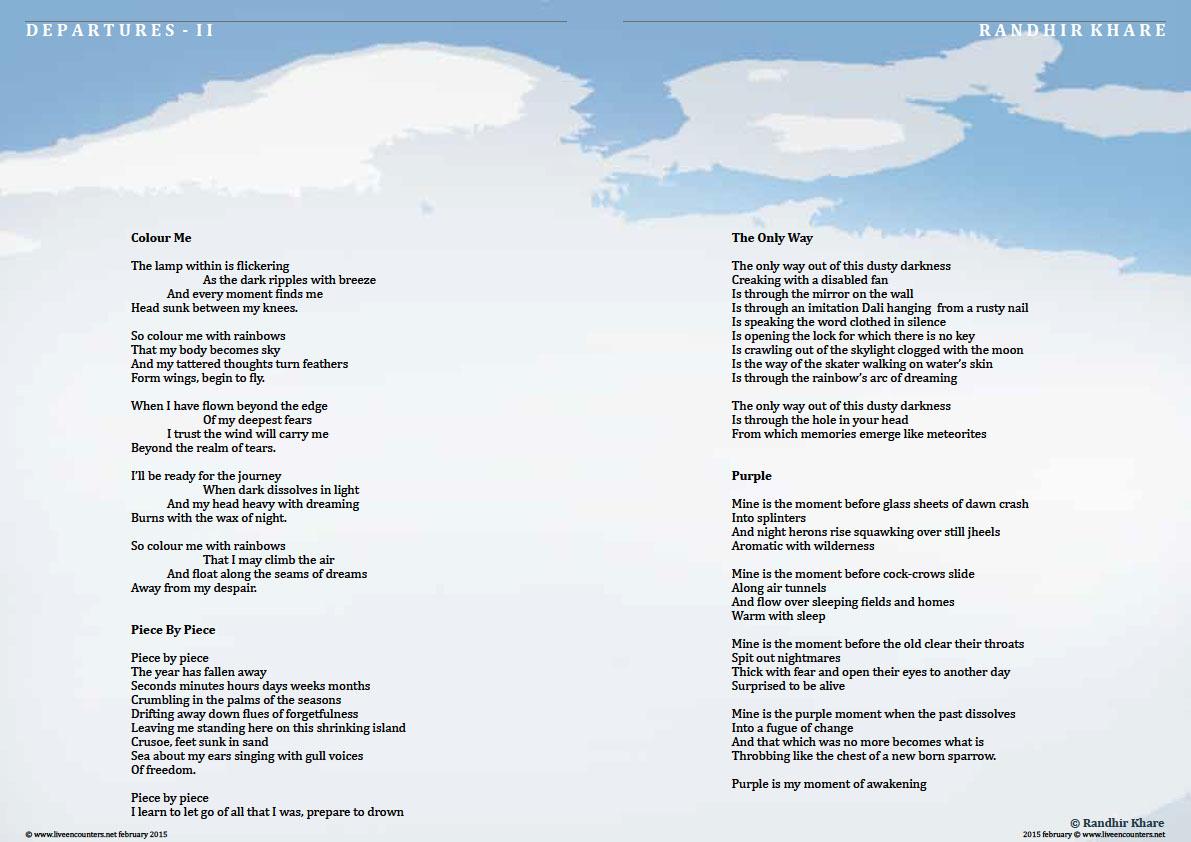 Page 2 Randhir Khare - Departures II
