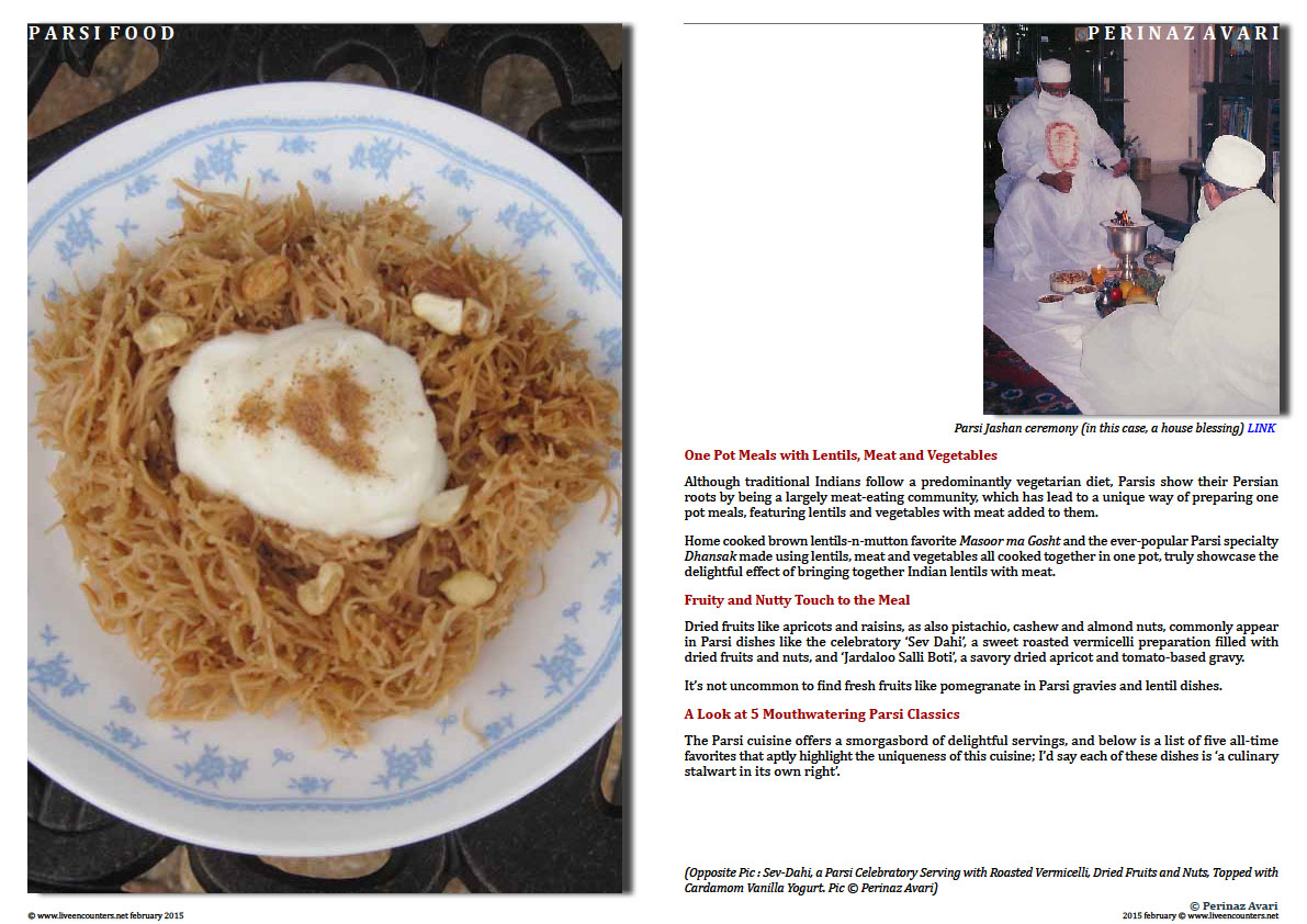 Page 2 Parsi Cuisine - Jamva Chalo Ji - Come eat...food is ready! by Celebrity Chef and Author Perinaz Avari, a proud Parsi