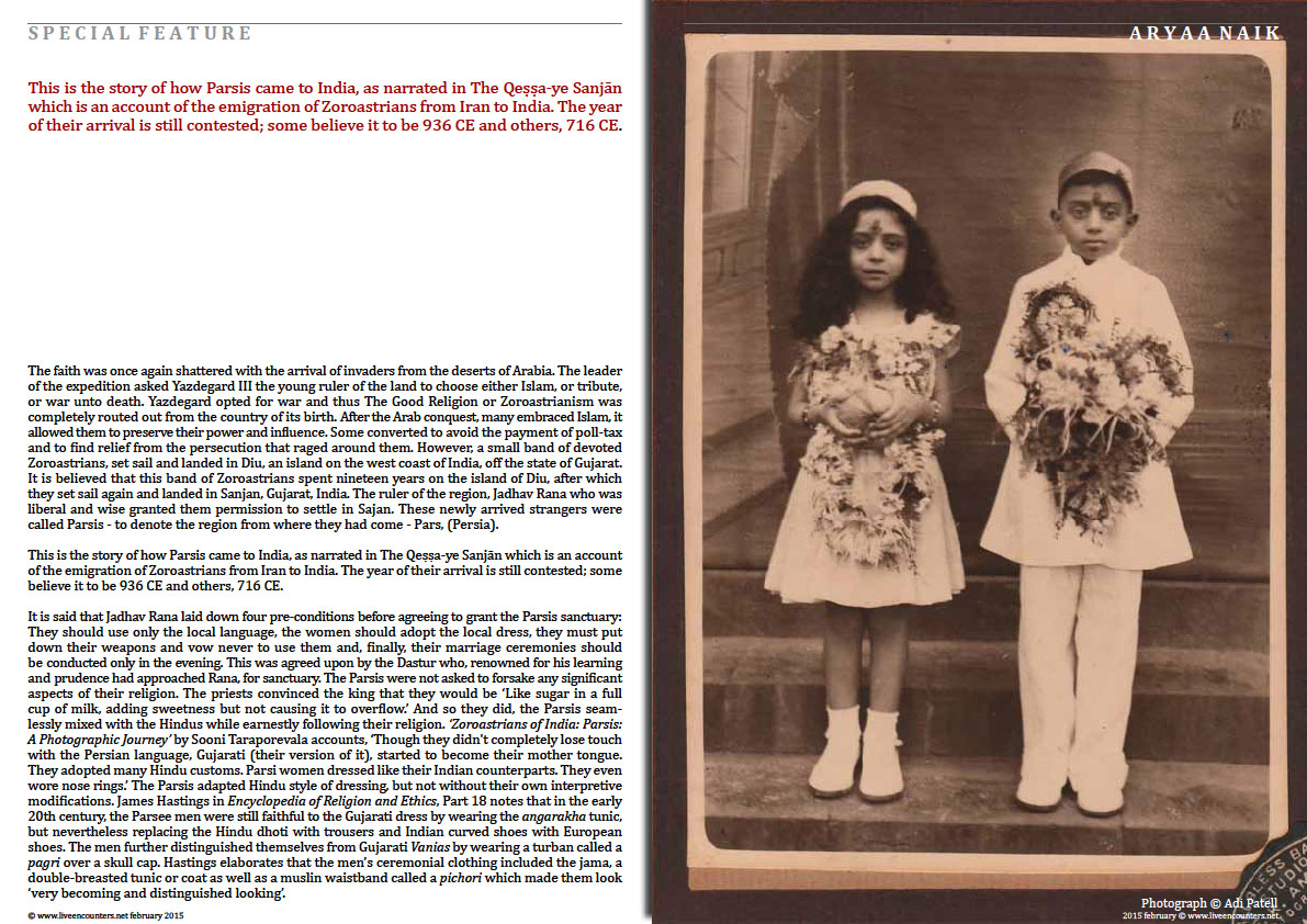 Page 2 People of the Good Faith - Brief history of the Parsis - Aryaa Naik