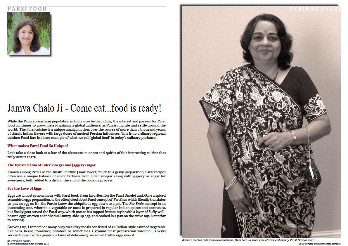 Page One - Perinaz Avari -  Jamva Chalo Ji