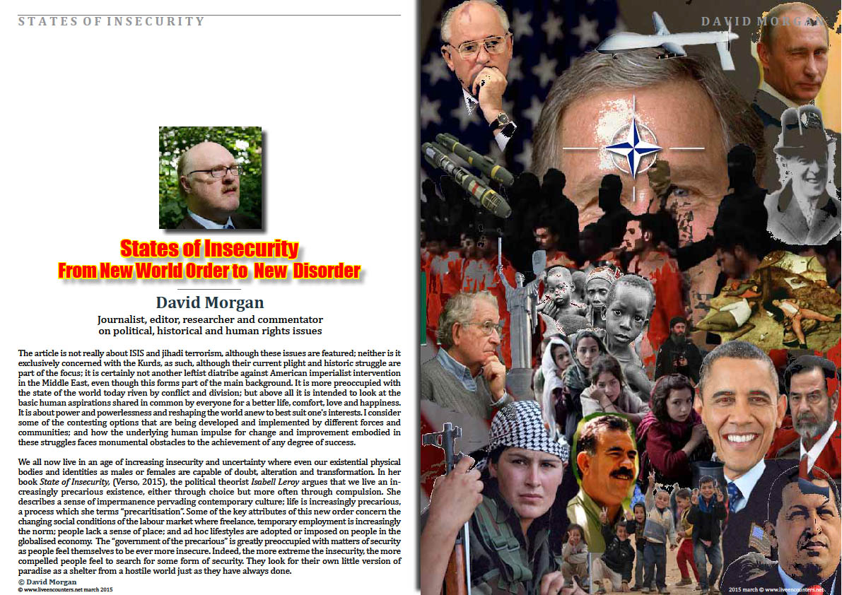 Page 1David Morgan States of Insecurity From New World Order to  New  Disorder