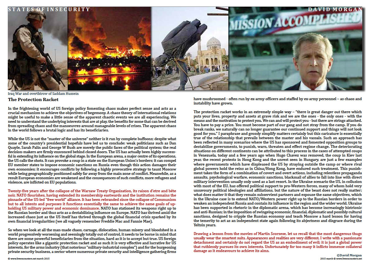 Page 3 David Morgan States of Insecurity From New World Order to  New  Disorder