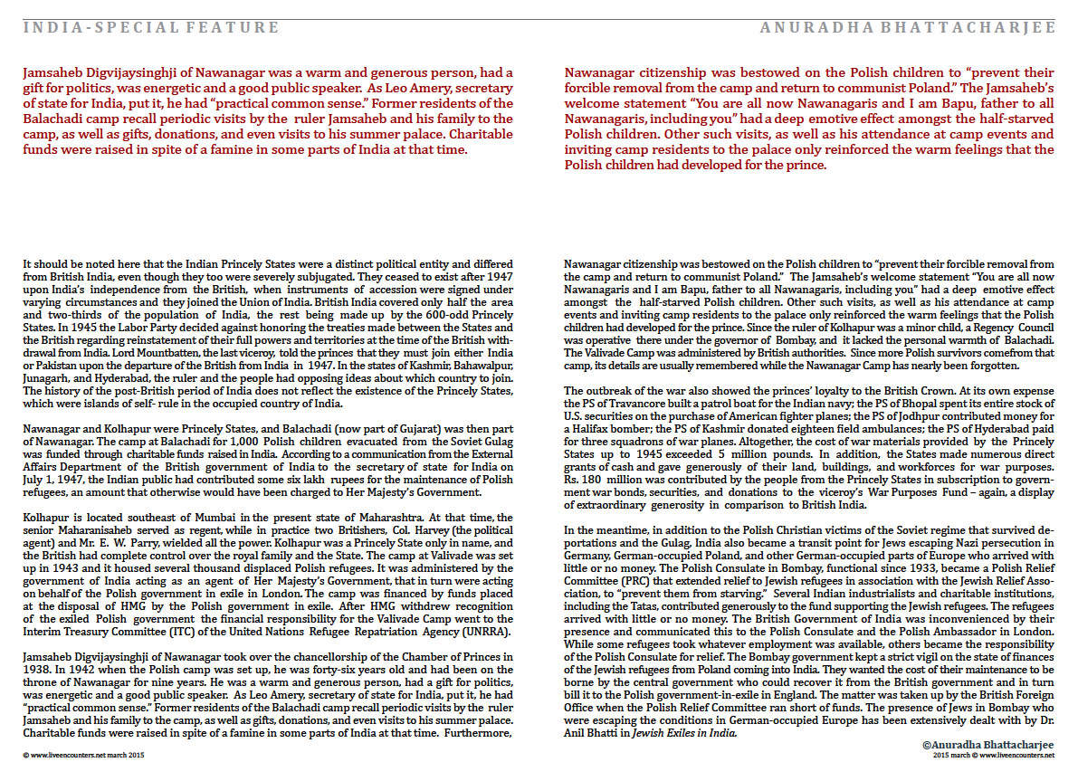 Page 3a Dr Anuradha Bhattacharjee Polish refugees in India