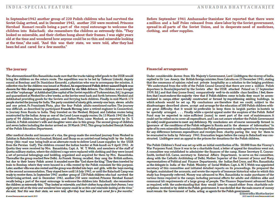Page 7a Dr Anuradha Bhattacharjee Polish refugees in India