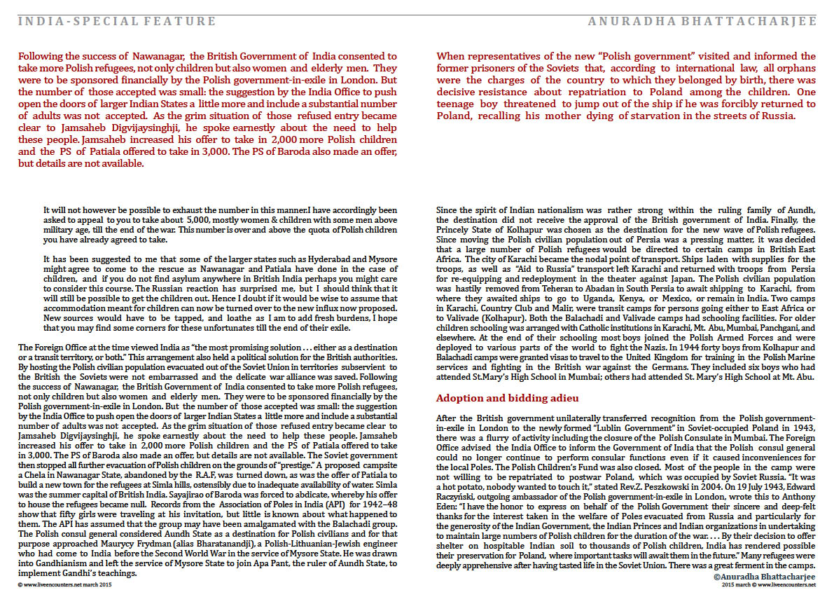 Page 9a Dr Anuradha Bhattacharjee Polish refugees in India