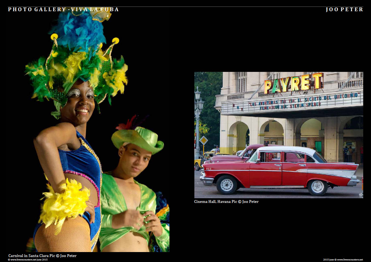 Joo Peter - Viva La Cuba! Live Encounters Magazine June 2015 Page Five cuba JP