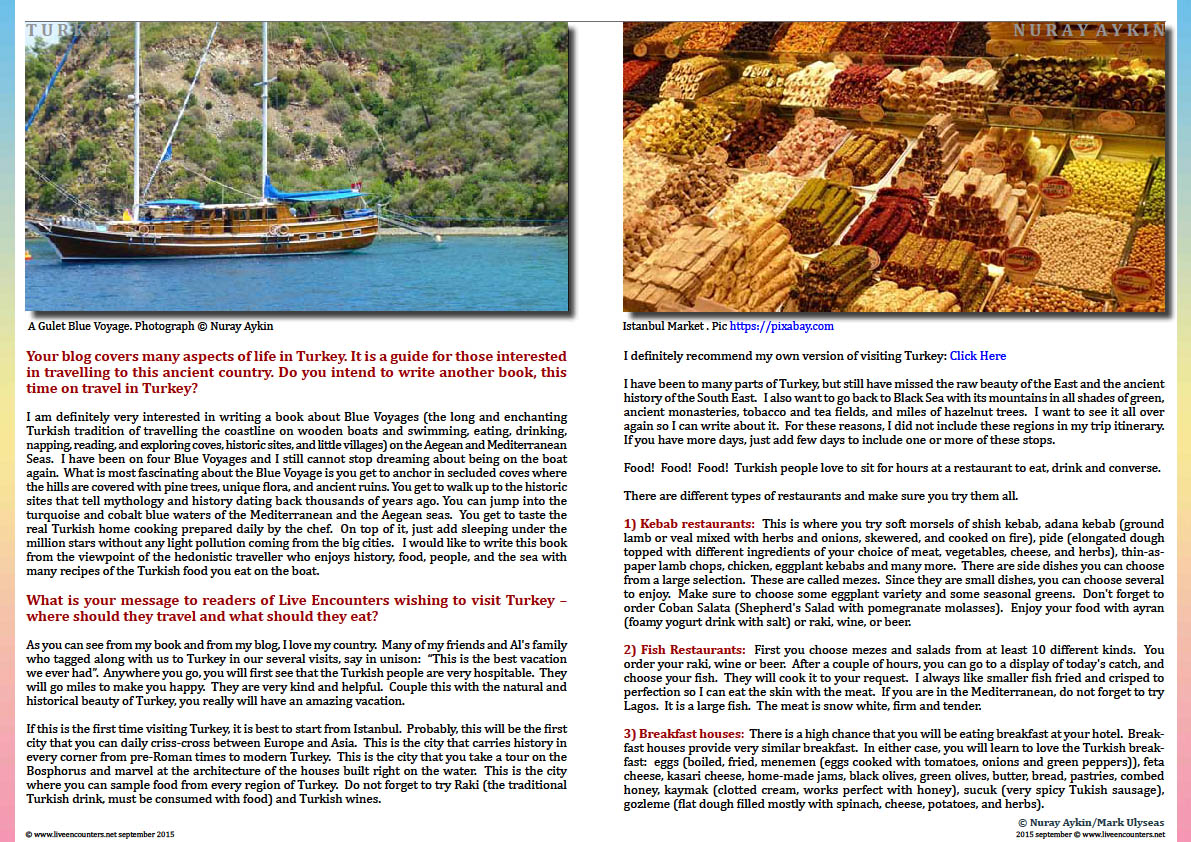 Page Five Dr Nuray Aykin author of Pomegranates and Grapes: Landscapes from My Childhood in an exclusive interview with Mark Ulyseas Live Encounters Magazine September 2015