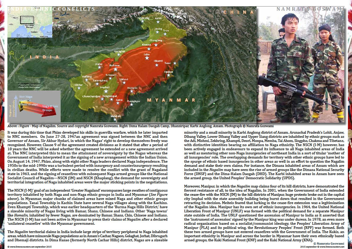 Page Two Ethnic Conflicts in Northeast India by  Dr Namrata Goswami, Live Encounters Magazine September 2015