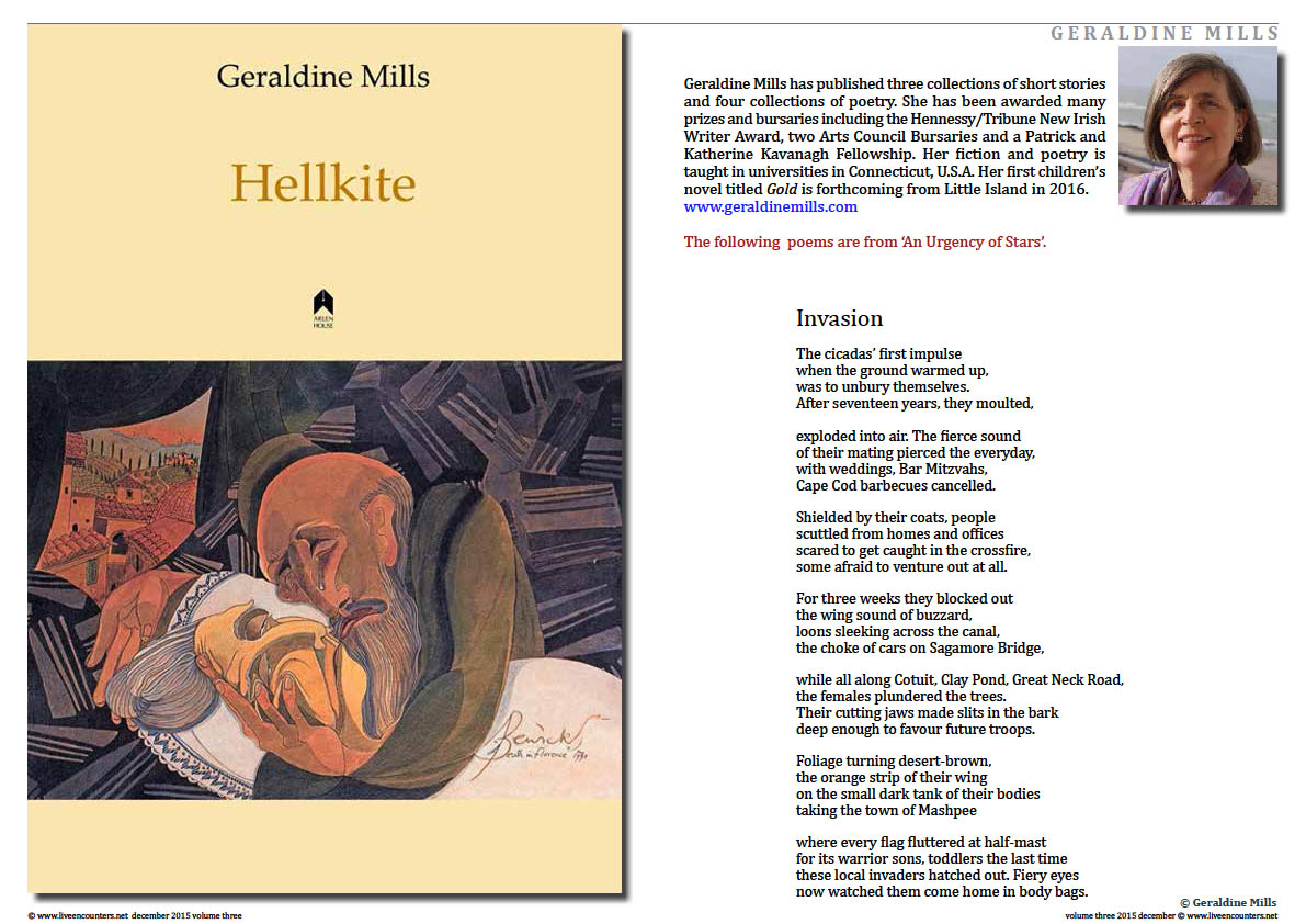 Live Encounters Geraldine Mills An urgency of Stars Page 1 Volume 3 December 2015