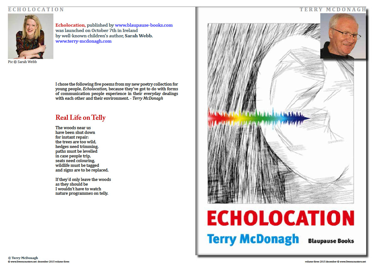 Live Encounters Magazine Terry McDonagh Echolocation Page 1 Volume 3 December 2015