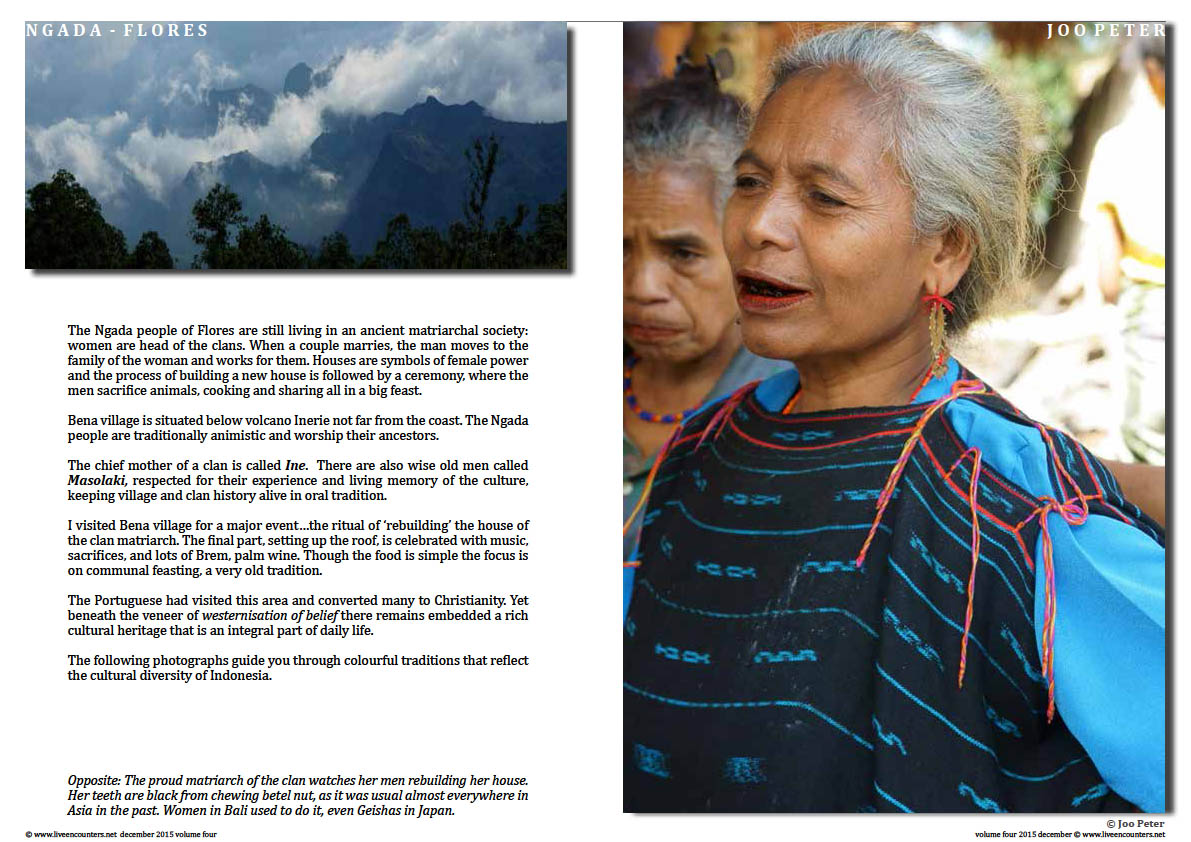 The following photographs guide you through colourful traditions that reflect the cultural diversity of Indonesia.Page 02