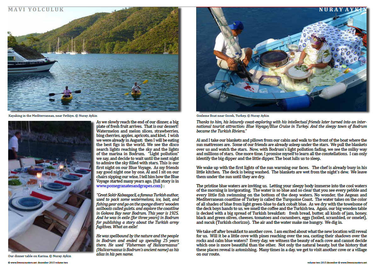 Live Encounters Dr Nuray Aykin Blue Voyage in Turkey Volume Two December 2015 page two