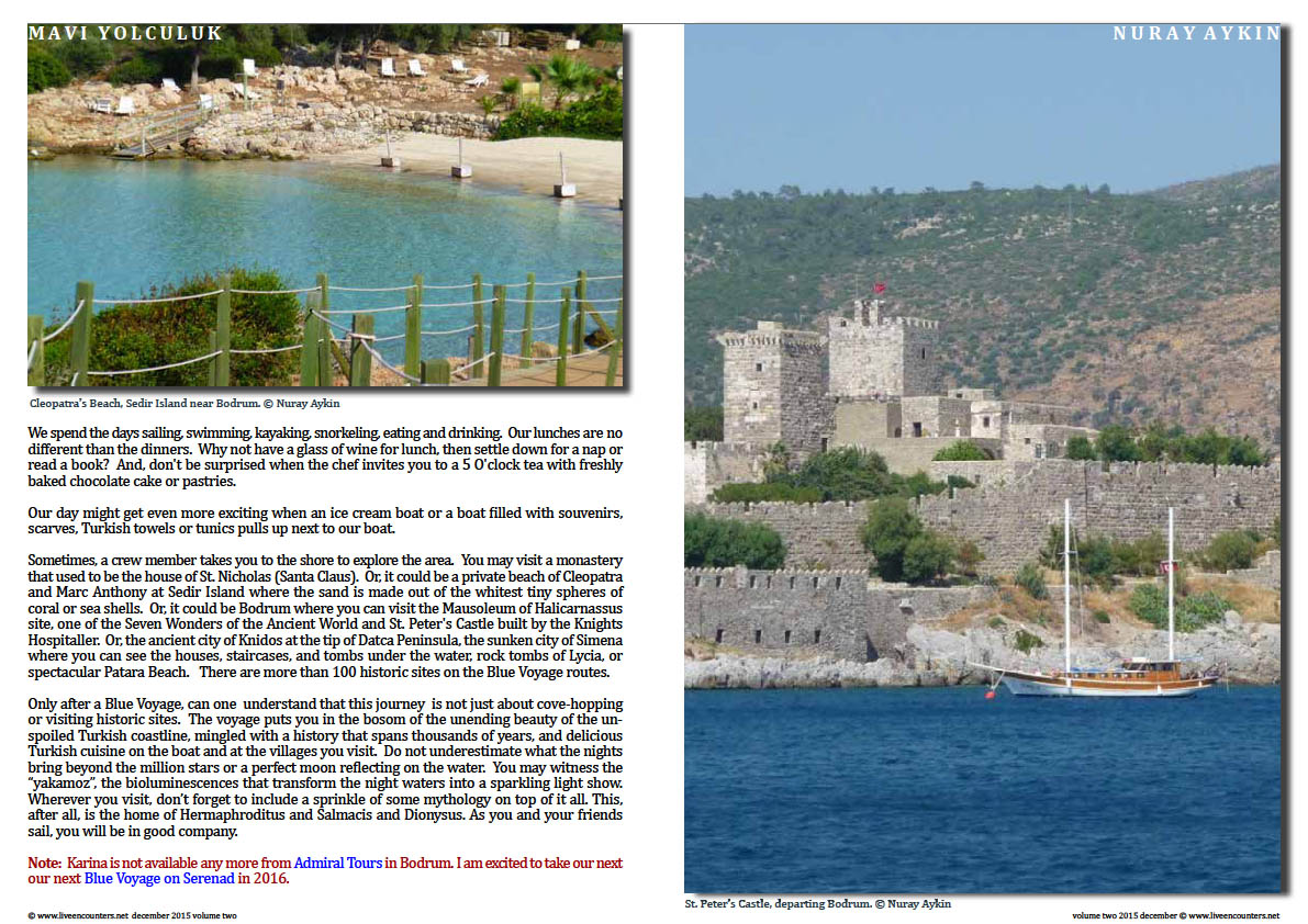 Live Encounters Dr Nuray Aykin Blue Voyage in Turkey Volume Two December 2015 page three