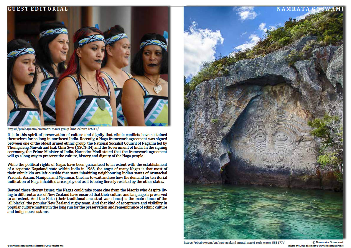 Live Encounters Magazine Living for Culture, Dignity and Self Worth by Dr Namrata Goswami Volume Two 2015 Page 04