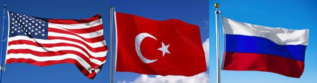 USA Turkey and Russia