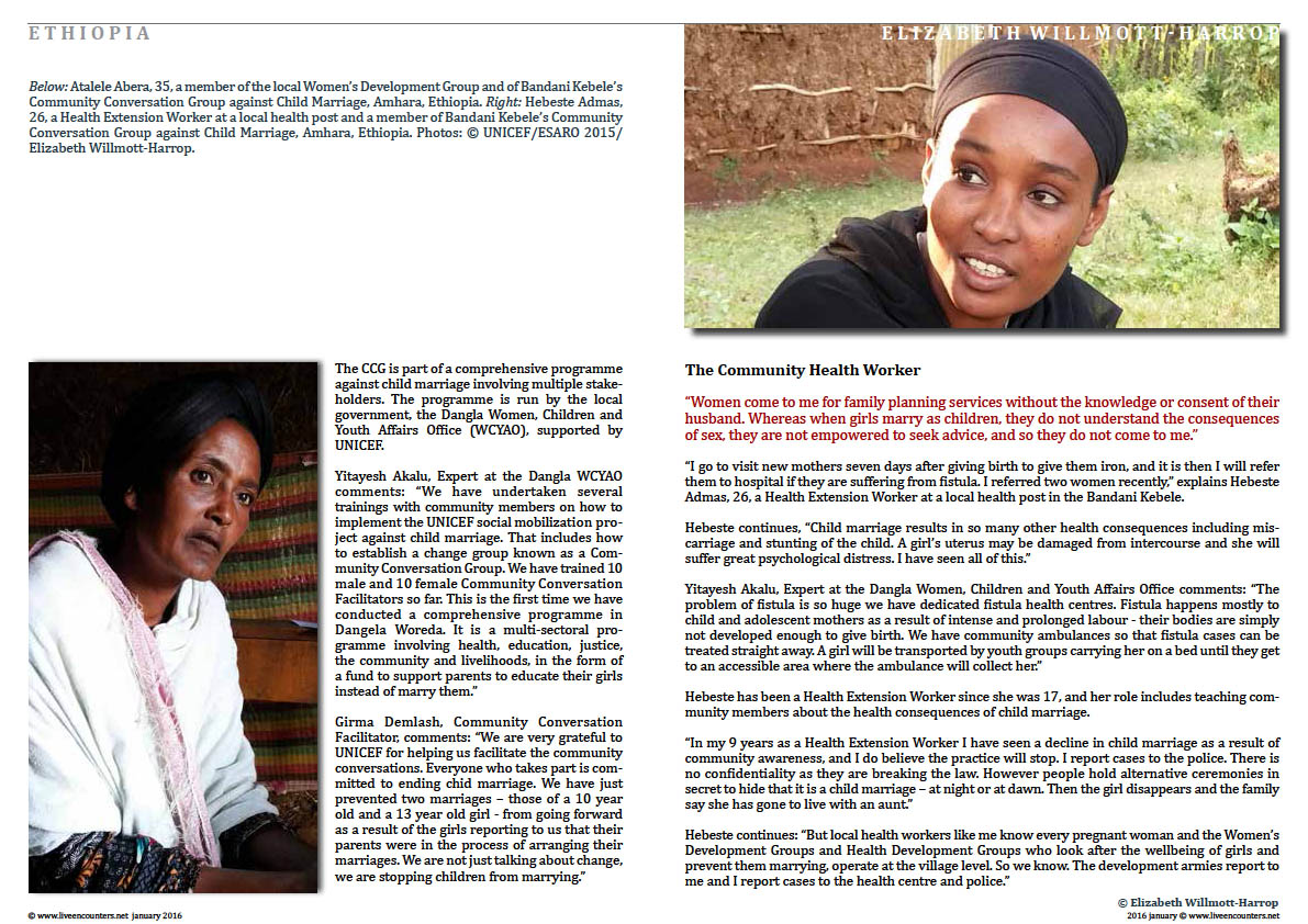 Page02 Child Marriage in Amhara, Ethiopia: Faces of Change by Elizabeth Willmott-Harrop Live Encounters Magazine January 2016