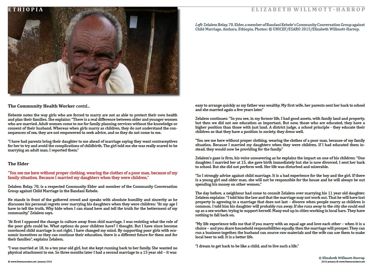 Page03  Child Marriage in Amhara, Ethiopia: Faces of Change by Elizabeth Willmott-Harrop Live Encounters Magazine January 2016