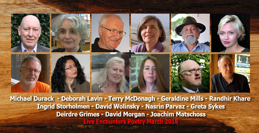 Live Encounters Poetry inaugural edition March 2016