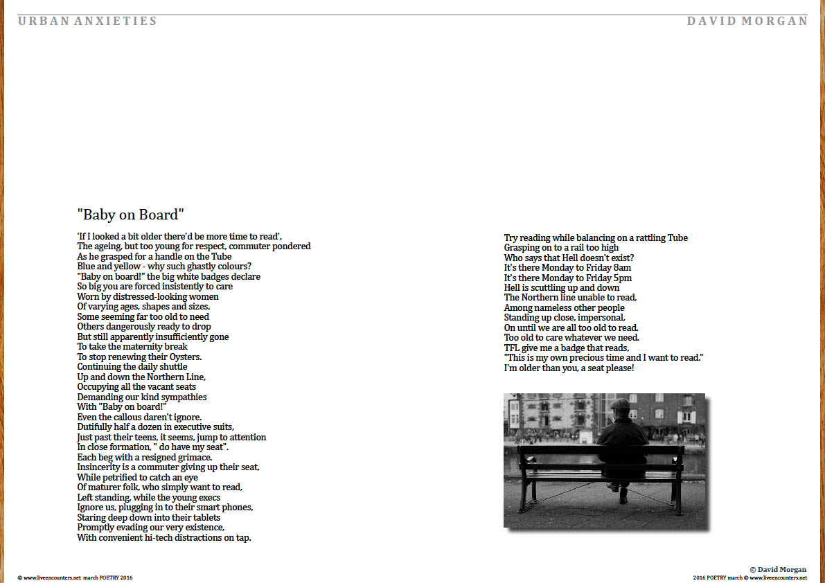 Page Two David Morgan urban anxities live encounters poetry march 2016