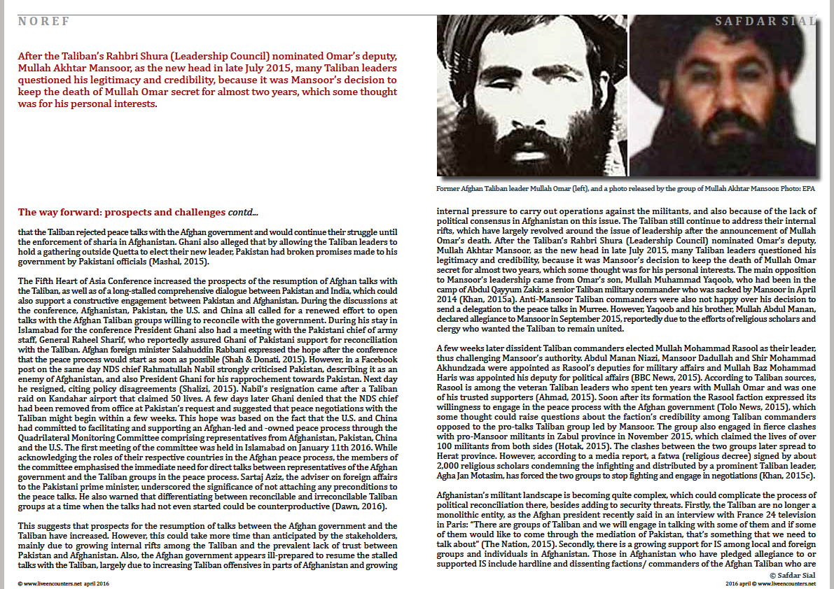 Page Five Safdar Sial NOREF live encounters magazine april 2016c