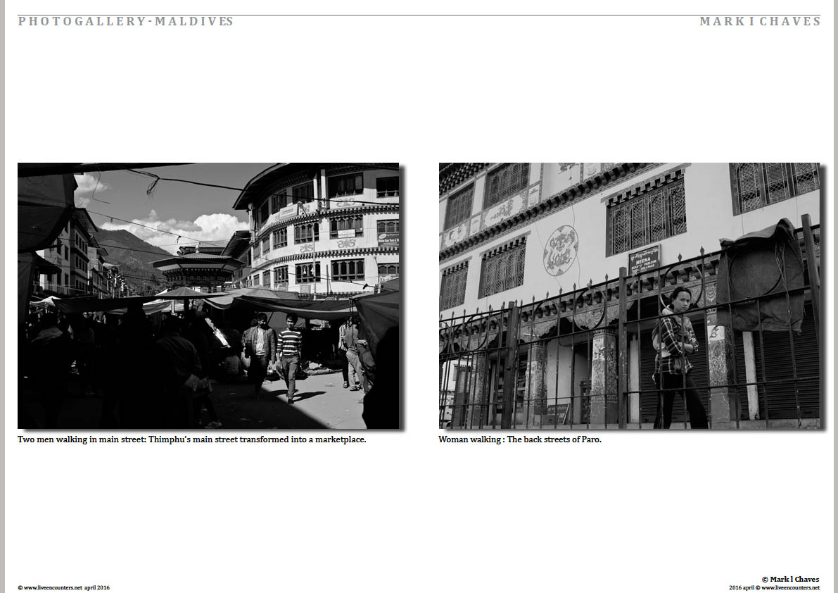 Page three Mark I Chaves Bhutan black and white live encounters magazine april 2016