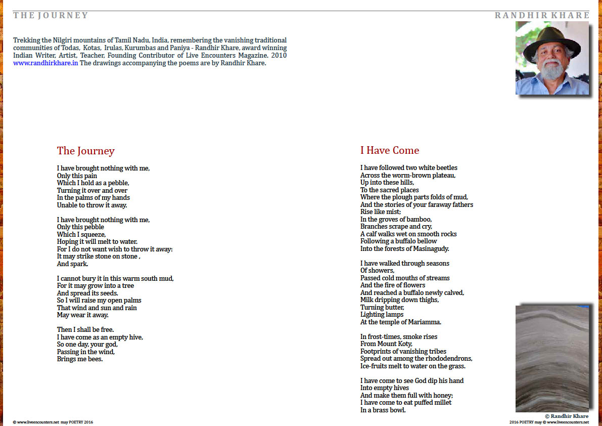 Page One Randhir Khare Live Encounters Poetry May 2016