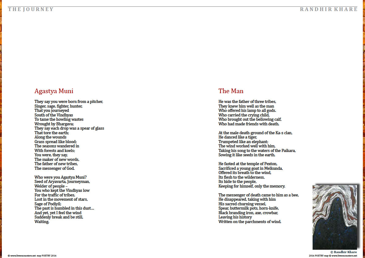 Page Two Randhir Khare Live Encounters Poetry May 2016