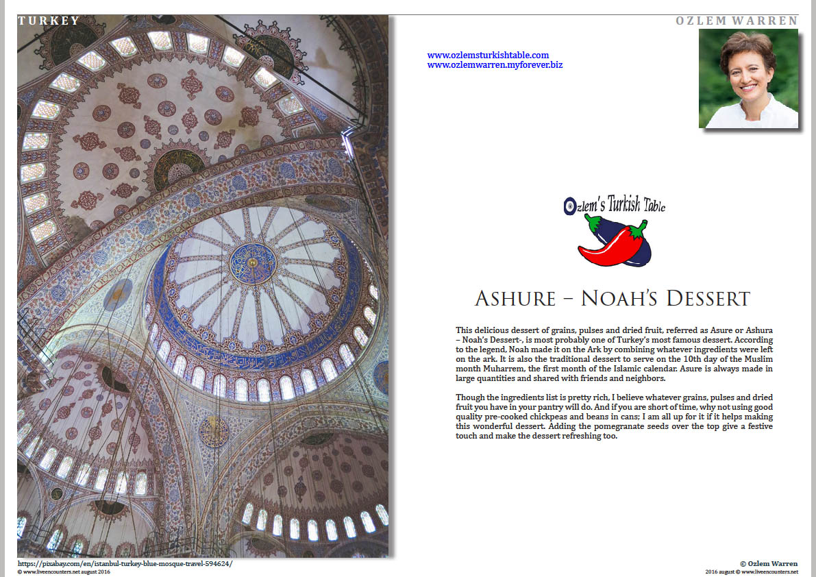 01 Ozlem Warren Ashure noah dessert Live Encounters Magazine August 2016