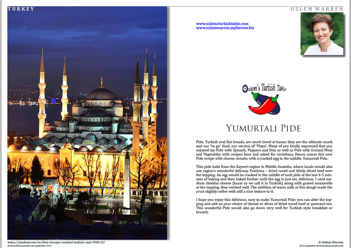 01 Ozlem Warren Yumurtali Pide Live Encounters Magazine September 2016
