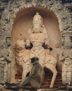 Hanuman, Virupaksha temple, Hampi, India © Mark Ulyseas