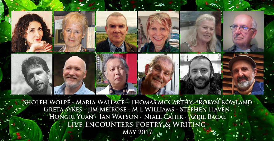 Live Encounters Poetry & Writing May 2017