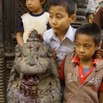 03. Children watching the beheading of a buffalo. © Joo Peter