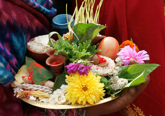 08. Floral offering for the temple. © Joo Peter