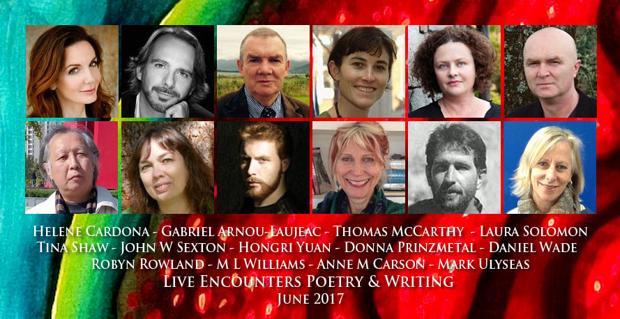 Live Encounters Poetry & Writing June 2017