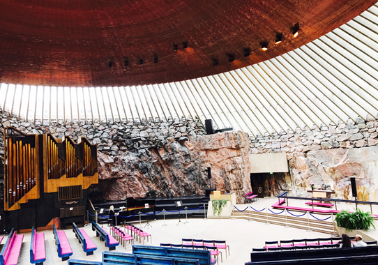 July 02 Temppeliaukio Church, Helsinki. Photograph © Mikyoung Cha