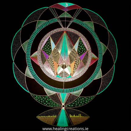 Vortex Math Mandala by Patricia Fitzgerald